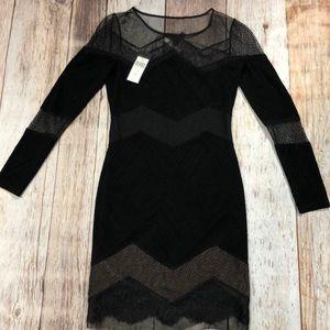BCBGMAXAZRIA Camila Black Lace Cocktail SizeXS NWT